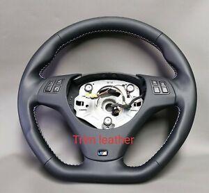 BMW custom steering wheel  M3 E91 E92 E93 E82 E90 E87  Genuine LEATHER NAPPA