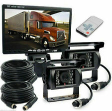 "12V/24V 2 x Reversing Camera + 7"" LCD Monitor Car Rear View Kit For Truck Bus UK"