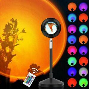 LED Projektionslampe Sunset Regenbogen USB Sonne Sonnenuntergang Projektor Licht