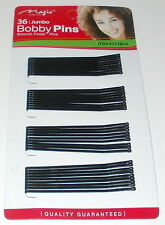 Jumbo Black Bobby Pins Long Smooth Finish Hair Clips Styling Accessories