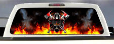 FIREFIGHTER / FIRE DEPT. FIRE RESCUE MALTESE CROSS REAR WINDOW DECAL TINT