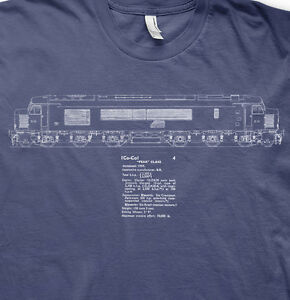 Peak class 46 diesel model railways trains BR t shirt