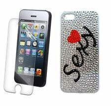 Iphone 5 5S 5G Sexy Sex Print Bling Rhinestone Diamond Crystal Diamonte Case UK