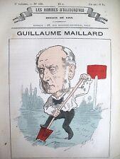 GUILLAUME MAILLARD DéPUTé DE SEINE CARICATURE GILL LES HOMMES D'AUJOURD'HUI 1878