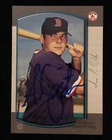 AARON CAPISTA 2000 BOWMAN ROOKIE RC Autograph Signed AUTO Baseball Card 21 RED S