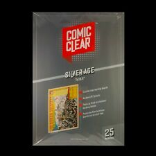 25-pack of Crystal-Clear Comic Clear Backing Boards - Silver Age Size