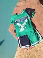 TOMMY HILFIGER BOYS SWIMSUIT 3 - 6 Mos with  T-SHIRT-NEW