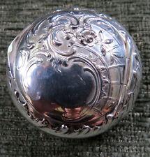 European Sterling Silver 800 Art Nouveau Repousse Pillbox Gold Gilt Vermeil