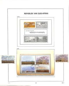 [OP8297] South Africa lot of stamps on 12 pages