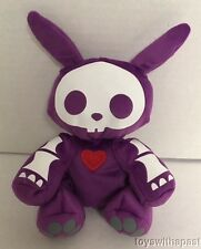 "Skelanimals JACK BUNNY 6"" Purple Skeleton Plush Jakks Rabbit Stuffed Animal Toy"