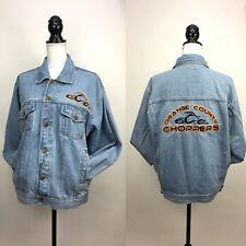 Orange County Choppers OCC Motorcycles Blue Denim Jacket Long Sleeve Bioworld
