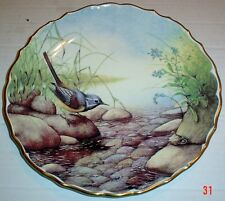 Spode Collectors Plate GREY WAGTAIL - BRITISH BIRDS PLATE 4