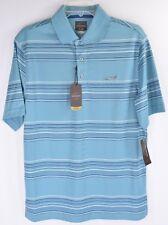 Greg Norman for Tasso Elba Golf Polo Mens S Dull Blue Play Dry New 5141