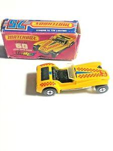 MATCHBOX SUPERFAST Streakers Lotus Super Seven No 60 Yellow  MIB diecast