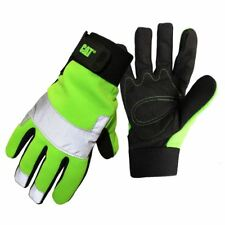 New Caterpillar CAT Hi Vis Padded Palm Utility Road Work Safety Glove