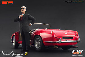 1:18 Enzo Ferrari black suit VERY RARE!!! figurine NO CARS !! for diecast by SF