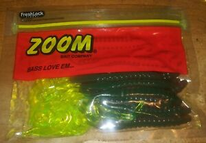 Zoom Bait Co. 5 1/2 in. Curytail Rubber Worms  FISHING TACKLE Lure NOS
