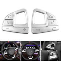 Steering Wheel Button Silver Trim Sequins For Mercedes Benz E class W213 T05