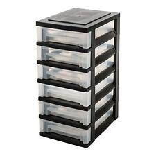 Iris Ohyama - Sdc-360 Roll-conteneur avec 6 tiroirs Plastique Noir/transparent 2