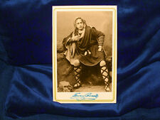 EDWIN BOOTH Actor Cabinet Card Photograph Vintage Theater Hamlet Photograph 1870