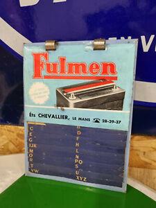 Glacoide FULMEN repertoire garage automobilia no bidon plaque emaillée
