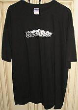 Men's XL COORS LIGHT Beer T-Shirt 100% Cotton Black GILDAN HEAVY COTTON