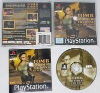 Tomb Raider The Last Revelation PS1 black label Lara Croft PlayStation VGC