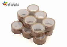 18 ROLLS OF LOW NOISE BROWN PACKING PARCEL PACKAGING TAPE 48mm x 66M
