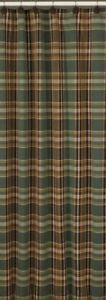 Lodge Wood River Shower Curtain Green, Brown, Tan 72x72 Cotton