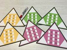 Multiplication Fact Families Triangles - 6 Laminated Dry Erase Activity Card