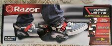Razor Turbo Jet Jetts Electric Motor Heelies Heel Wheels Skates w/ New Knee Pads