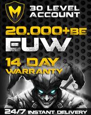 League of Legends | LoL Account | EUW | LVL 30+ | 20k BE | Unranked | Warranty!