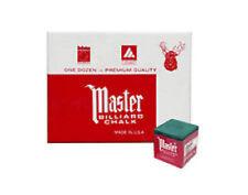 Master FOREST Pool Billiard Cue Q Stick Chalk Doz. Box 12-Pack 1 Dozen 12 ct.