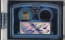 2005 Bowman Sterling Black Refractor Chaz Roe Auto Autograph Jersey Card 02/25