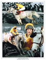 SIGNED RICHARD DUNWOODY ONE MAN KING GEORGE VI CHASE PHOTO COA HORSE RACING