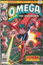 OMEGA-THE UNKNOWN  #5 1976 FN+ MARVEL -STAN LEE PRESENTS...GERBER/ MOONEY