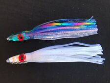 "2x 5.5"" Hawaii Game Fishing Trolling Lures Skirted Lure Tuna Marlin Mahi Teaser"