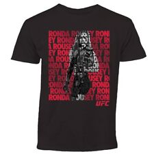 Ronda Rousey UFC Fighter Repeat Black T-Shirt -Size Large