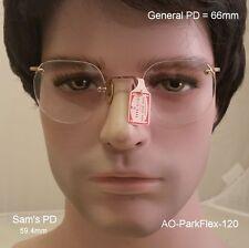 "American Optical Park-Flex ""Frameless"" 12K Gold Fill  True Antique Eyeglasses &"