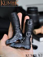 "1:6 KUMIK S-7 Black Plastic Shoes Long Boots Fit Male Female 12"" Figure"