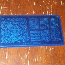 Bundle Monster Maniology nail stamping plate Special Fx watermarble texture new