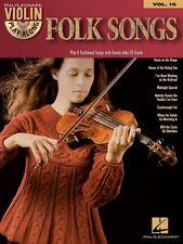 Folk Songs Violin Play-Along Book and CD NEW 000842429