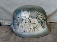Original Hungarian Army WW2 M--37 Helmet, Restored, Varnished, Handmade Art