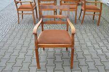1x Art Deco Armlehnenstuhl 19.Jh. Stuhl IV 1900 Holz Armchair 19. cent Teac Wood