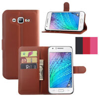 PU Leather Flip Card Holder Wallet Case Stand Cover For Samsung Galaxy J7 Neo
