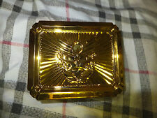 Bandai 2012 Power Rangers Gold Belt Buckle Card Holder with 4 cards
