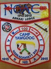 2015 NOAC Abnaki Lodge 102 2-piece set Trader