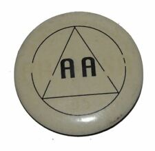 Vintage 1970's Alcoholics Anonymous AA Pinback Button 1