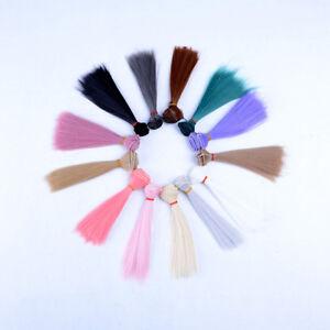 15x 100cm DIY Doll High-temperature Wire Straight Hair Wig 1/3 1/4 1/6 new .BDA