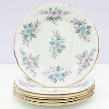 Vintage Colclough Coppelia Set 6 Tea Plates Bone China Floral
